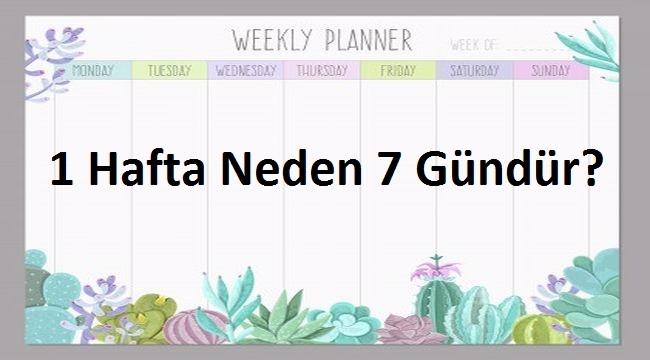 1 Hafta Neden 7 Gündür?